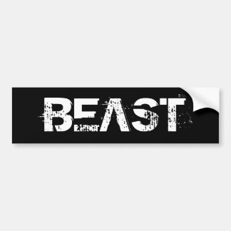 BEAST BUMPER STICKER