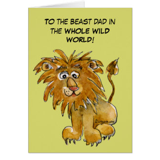 Beast Dad in Whole Wild World Card