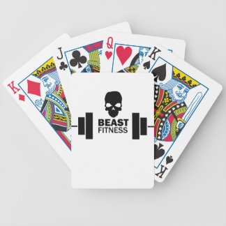 Beast Fitness Bicycle Playing Cards
