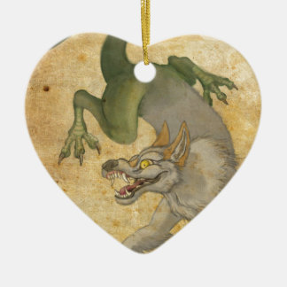 Beast from the East Ceramic Heart Ornament