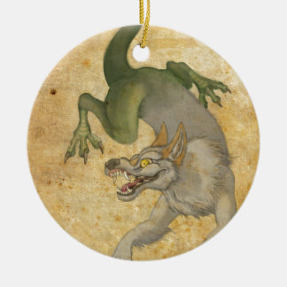 Beast from the East Round Ceramic Ornament