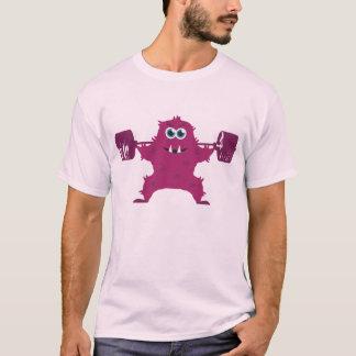 Beast Mode - Cute Monster Lifting Weights T-Shirt