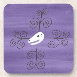 Beastie Skull Flourish Coaster