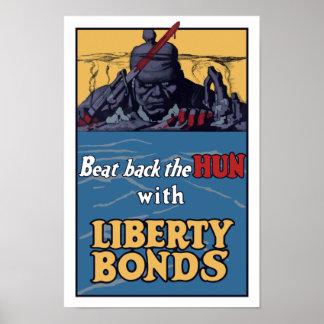 Beat Back The Hun -- WW1 Poster