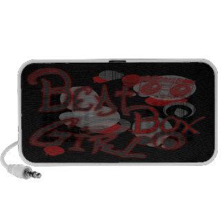 Beat Box Girl Red Speakers