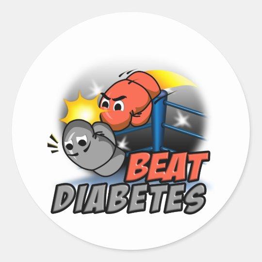 Beat Diabetes Classic Round Sticker