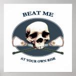 Beat Me Skull Lacrosse Poster