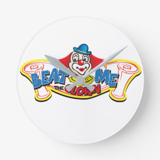 Beat Me the Clown Round Clock