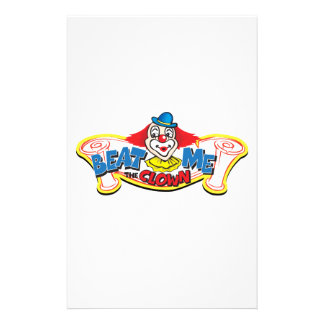 Beat Me the Clown Stationery