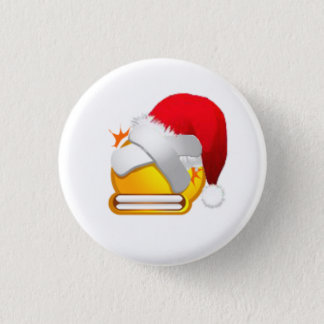 beat plaster christmas face 1 inch round button