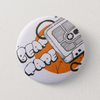 Beat tape badge 2 inch round button