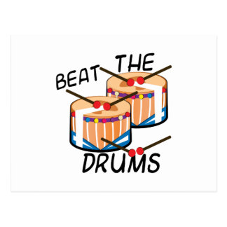 Beat The Drums Postcard