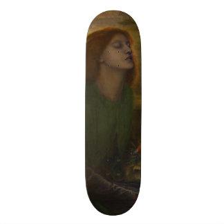 Beata Beatrix by Dante Gabriel Rossetti Skateboard Deck