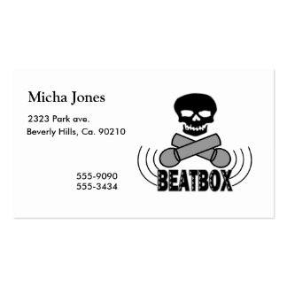 Beatbox Skull & Crossbone Mics Pack Of Standard Business Cards