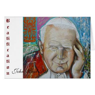 Beatification, John Paul II Card
