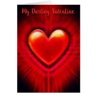 Beating Heart stylish custom Valentine's Card