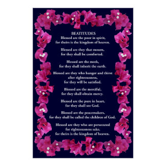 Beatitudes in a Bougainvillea Frame Poster