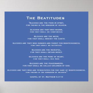 Beatitudes of Jesus Poster