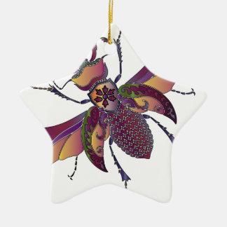 beatle ceramic ornament
