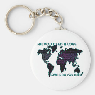 Beatles World All You Need Is Love Keychain