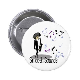 Beatnik Jazz Saxophone Player 2 Inch Round Button
