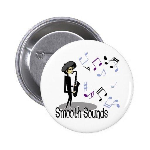Beatnik Jazz Saxophone Player Pinback Button
