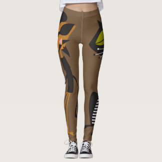 Beatnik Kat Couple Leggings