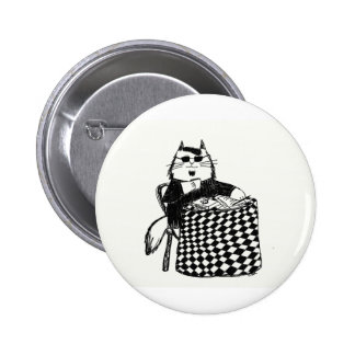 Beatnik Kitty 2 Inch Round Button