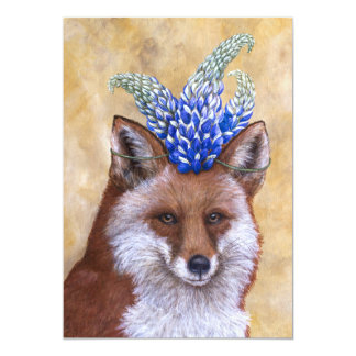 Beatrice the fox flat card