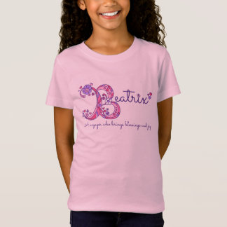 Beatrix girls B name meaning monogram shirt