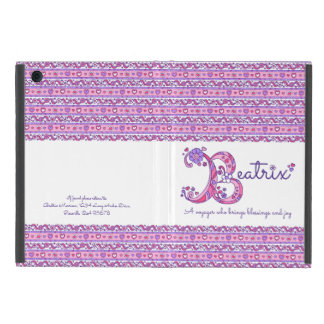 Beatrix letter B heart and flowers art ipad case