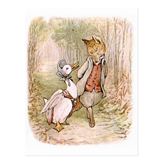 Beatrix Potter, Jemima Puddle Duck, Mr. Tod Postcard