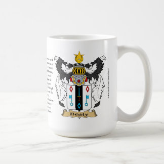 Beaty, the Origin, the Meaning and the Crest Coffee Mug