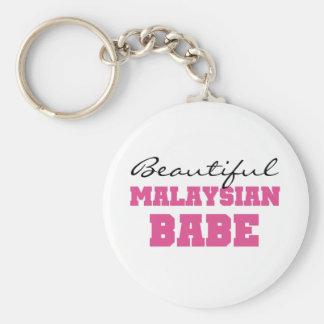 Beau bébé malaisien porte-clé rond