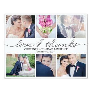 Beau blanc de carte de remerciements de photo de carton d'invitation 10,79 cm x 13,97 cm