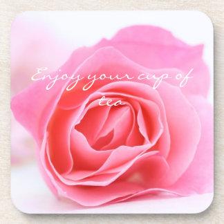 Beau caboteur de liège personnalisé de rose de ros sous-bocks
