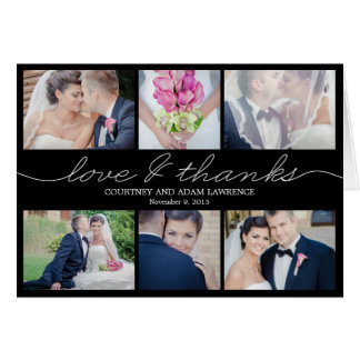 Beau carte de remerciements de mariage d écriture
