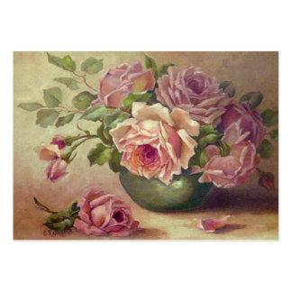 Beau carte de visite rose de roses