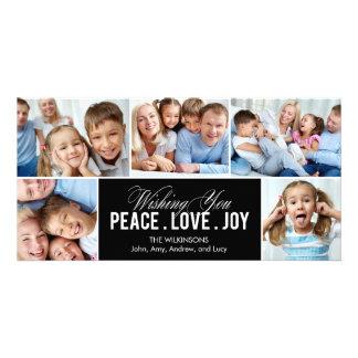 Beau carte photo de vacances de collage photocarte personnalisée