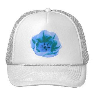 Beau chapeau de tulipe bleue casquette de camionneur