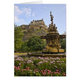 Beau château d'Edimbourg Carte De Vœux
