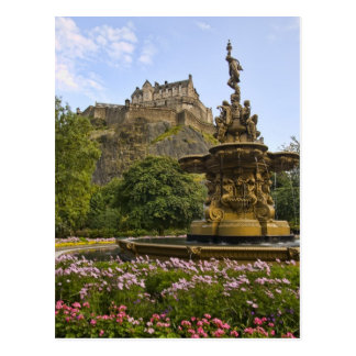Beau château d'Edimbourg Cartes Postales