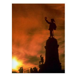 Beau coucher du soleil : Mémorial de Champlain, Carte Postale