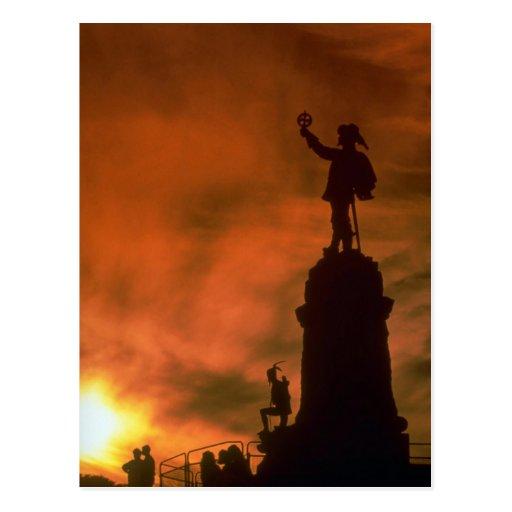 Beau coucher du soleil : Mémorial de Champlain, Ot Carte Postale