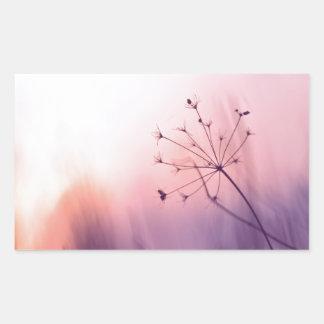 beau décor d'art de photo florale girly rêveuse de sticker en rectangle