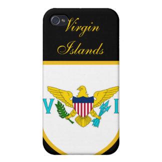 Beau drapeau des Îles Vierges américaines Étuis iPhone 4