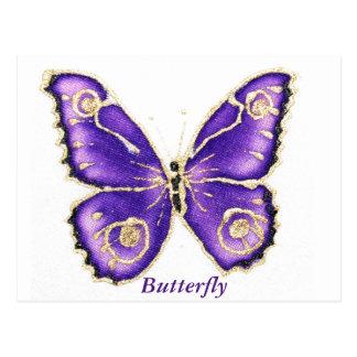 Beau grand papillon pourpre carte postale