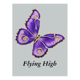 Beau grand papillon pourpre cartes postales