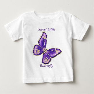 Beau grand papillon pourpre t shirt