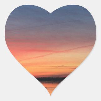 Beau lever de soleil sticker cœur